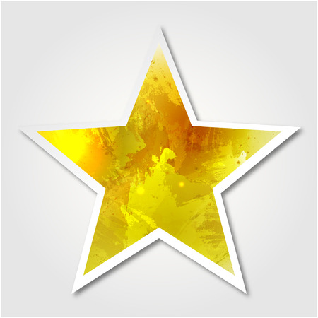 dabs: golden star. Paper star for your design