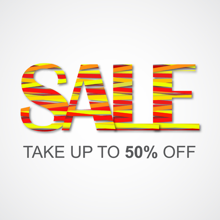Colored sale sign for your design