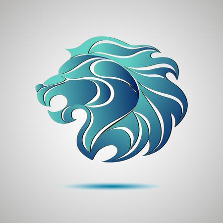 Lion head profile logo. Stock vector for your design