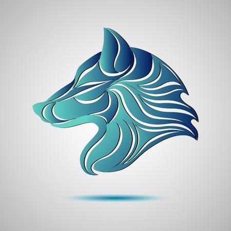 Lobo logotipo perfil de la cabeza. Stock vectorial para su diseño Logos