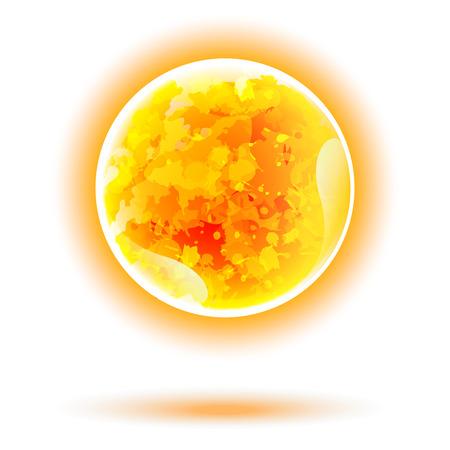 sun energy: Sun vector isolated. Solar energy illustration for your design