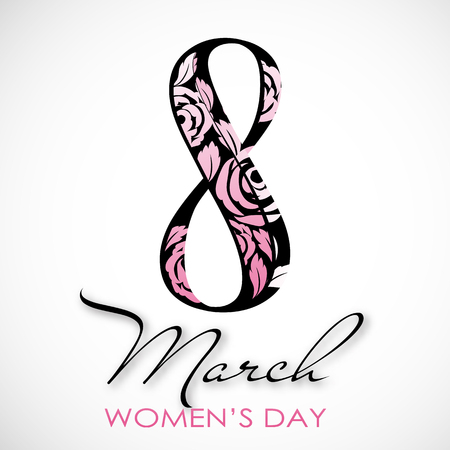 Womens Day. Vector Greeting Card. The 8th of March Illustration