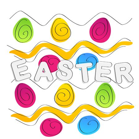 Easter background. Text and egs