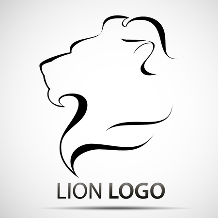 Lion head profile logo. Stock vector
