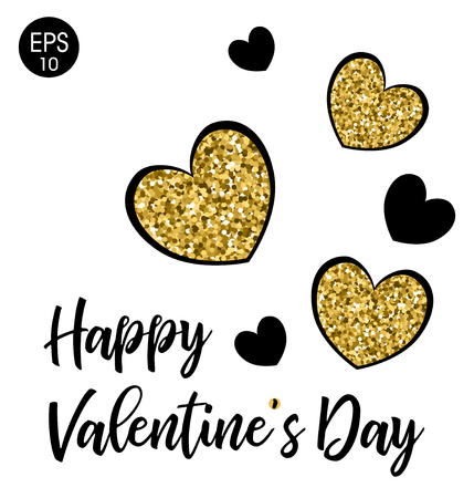 Happy Valentines Day. 14 Fabruary. Vector background wiht heart 일러스트