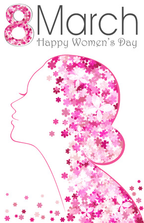 8 March. Happy Womens Day poster with flowers. International womens day for your design 일러스트