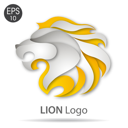 Lion logo. Vector illustration
