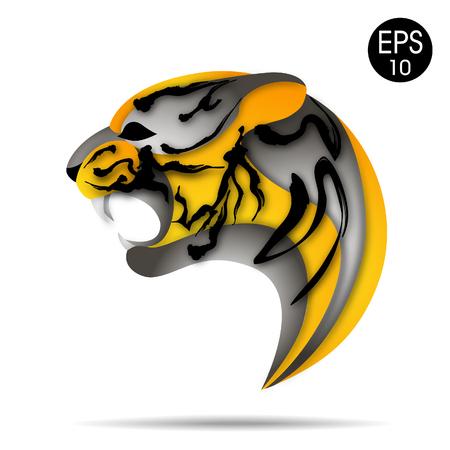 Tiger logo. Vector illustration Illustration