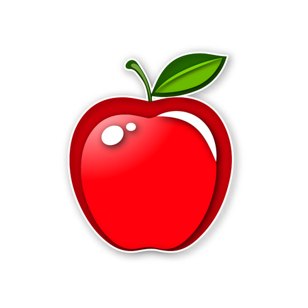 Red apple vector icon 일러스트