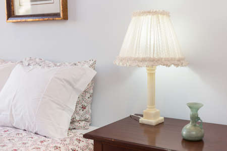 bedside lamp: Bedside Table with Lamp