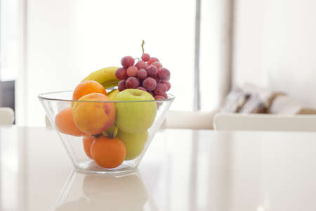 Fruit Bowl In Bright Room
