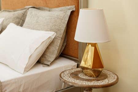 Luxury Nightstand With Lamp
