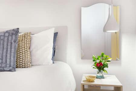 nightstand: Modern Nightstand With Lamp