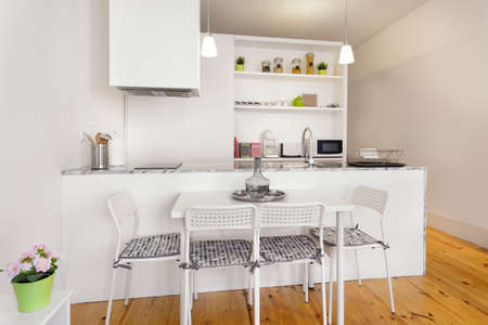 kitchenette: Bright Kitchenette Module With Dining Table
