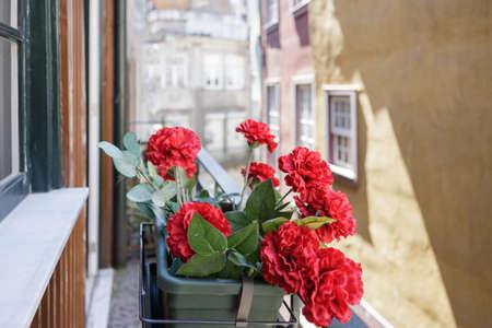 Flower arrangement on a window sill
