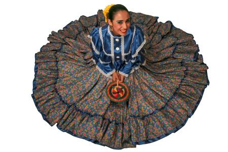 traje mexicano: Bailarina folclórica Chihuahua