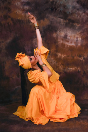 Dance in honor to Goddess Oshun photo