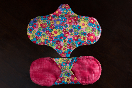 Handmade, eco friendly and organic menstrual pads