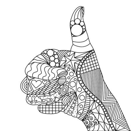 Zen tangle Thumbs Up. Zen tangle Like. Zen tangle Hand