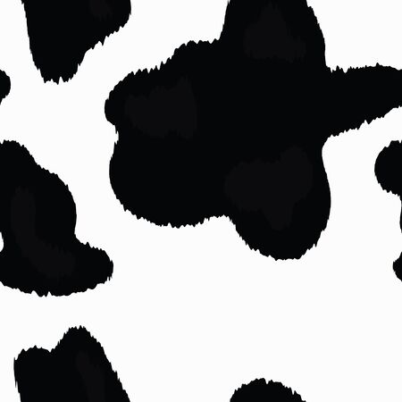 Vector Animal Print Cow Pattern Illustration
