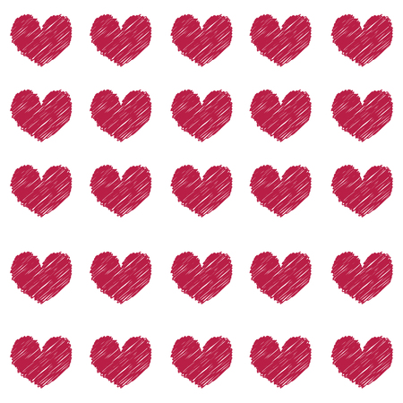 Pattern of Vinous Hearts, Seamless of Burgundy Hearts.