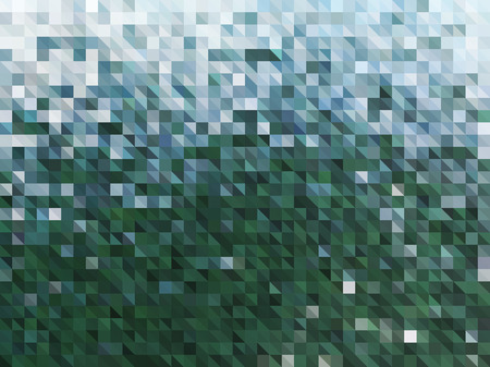 Vector Abstract Green Background of Water. Wallpaper of Natural Element in Mosaic Style. Vector illustration of Textured Fond. Nature backdrop. Ecology Concept of Water for Graphic Design Ilustração
