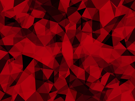 Vector Abstract Passionate Red with Triangles. Textured Wallpaper in Low Poly Style. Vector illustration of Fond in Texture with Deep Sensation. Modern Concept in Red Colors for Graphic Design
