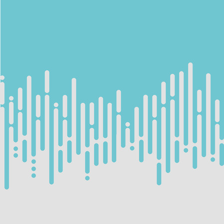 Vector Abstract Backgroud in Light Blue and Grey Rounded Lines. Textured Wallpaper with Vertical Stripes in Pastel Colors. Vector Illustration of Flat Geometric Template. Concept for Graphic Design Vektoros illusztráció