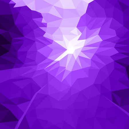 Vector Abstract Purple Background of Flash or Light. Geometric Fond with Blur Effect. Illustration of Futuristic Fond in LowPoly Style. Tech Template. Tech backdrop. Concept for Graphic Design