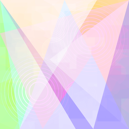 Vector Abstract Light Background with Blur Effect. Geometric Fond with Circles and Triangles. Illustration of Futuristic Fond. Tech Template. Tech backdrop. Concept for Graphic Design Illustration