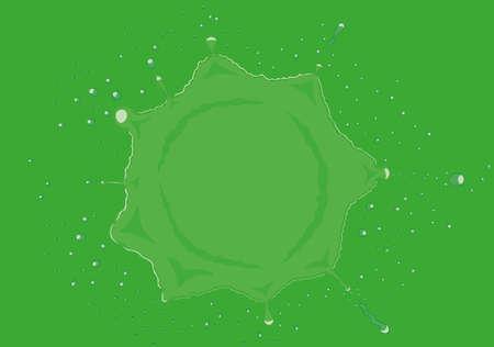 Green liquid circle splash vector illustration