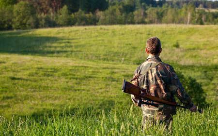 hunter in fields photo