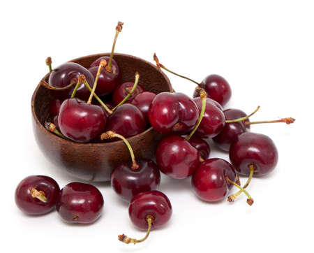cherry in a bowl isolated on white Stock Photo - 13868931