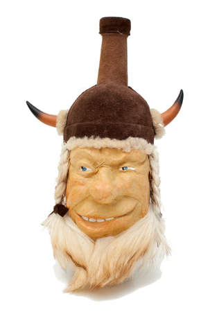 bottle decorated as viking head Stock Photo - 13868983