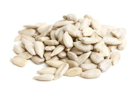 semillas de girasol: semillas de girasol aislado en blanco Foto de archivo