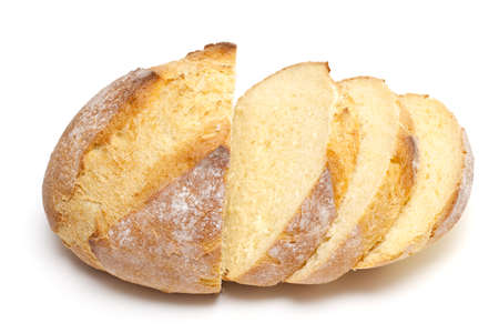 sliced bread isolated on white photo