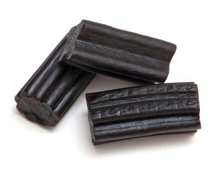 liquorice candies isolated on white