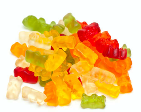 gummie: gummy bear candies isolated on white Stock Photo