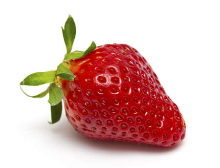 fresh strawberry isolated on white photo