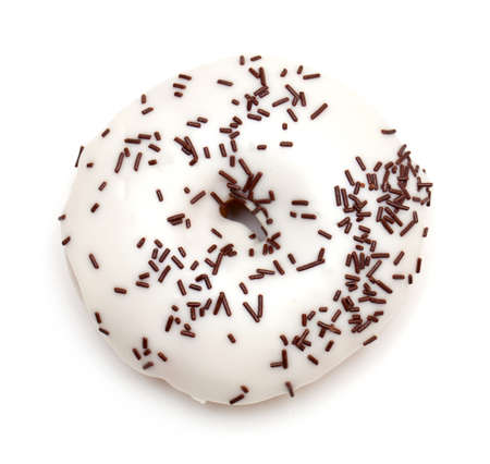 doughnut isolated on white photo