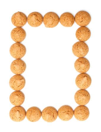 frame made of traditional italian almond cookies - amaretti photo