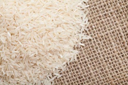 rice on sackcloth photo