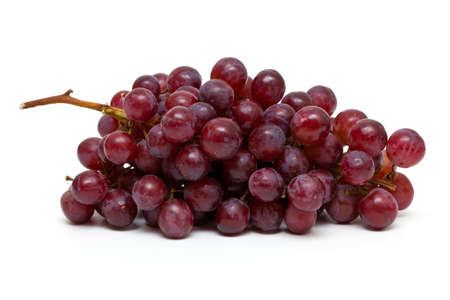 bunch of red grapes photo