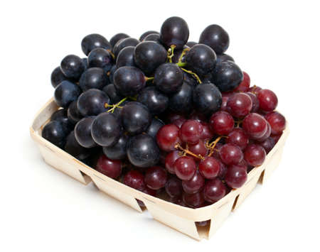 different variety of grape on white background photo