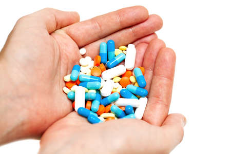 hand with pills photo