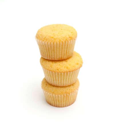stack of lemon muffins photo