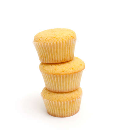 stack of lemon muffins photo