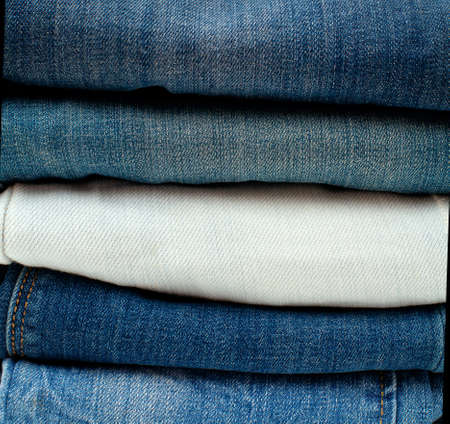 stack of jeans photo