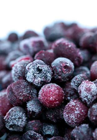frozen blueberries photo