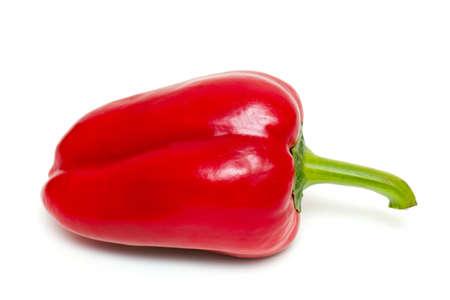red paprika isolated on white backrgound photo